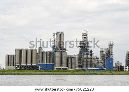 Oil refinery plant near Antwerp in Belgium