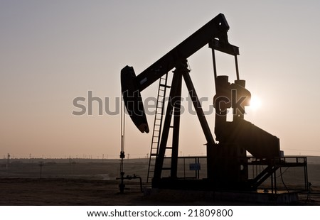 Oil rig in northern California