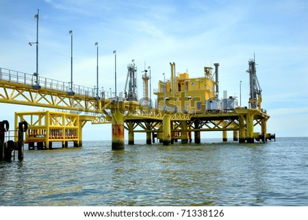 oil rig in offshore area