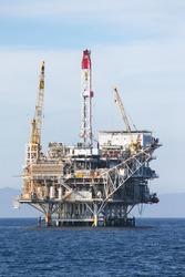 Oil Rig in the chanel island near Ventura California.