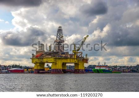 Oil rig in the Norwegian port of Sandnes.