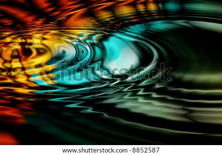Oil Slick Ripples fractal generated background image