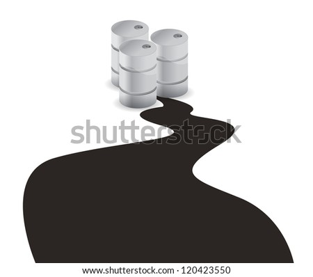 oil spill illustration design over a white background