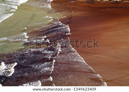 Oil spill in the ocean. Sea pollution concept image.