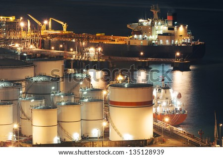 Oil Storage tanks and tanker