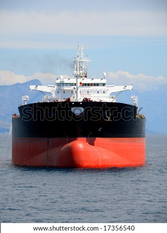 Oil supertanker