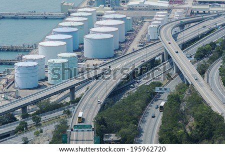 Oil tank and Highway