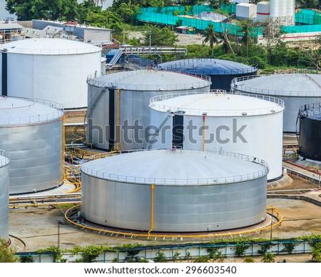 oil tank at bangkok Thailand