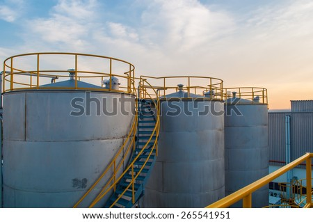 Oil Tank Factory plant.