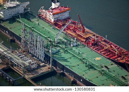 Oil tanker in port