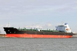 oil tanker in the port of rotterdam netherlands