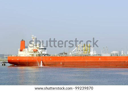 oil tanker in the port of rotterdam netherlands