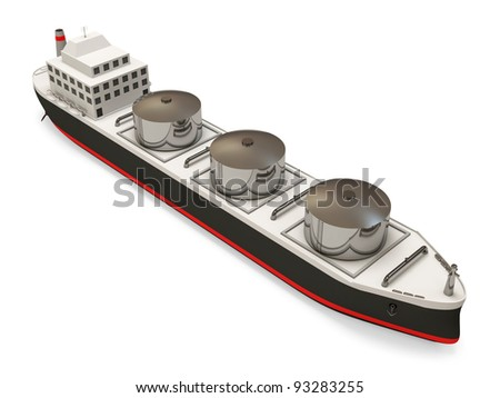 Oil Tanker on white background