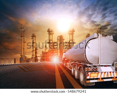 oil tanker truck and petrochemical industry estate