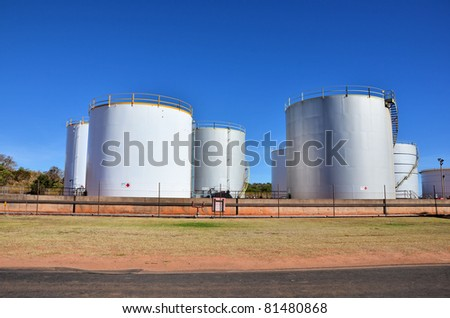 Oil Tanks and Blue Sky