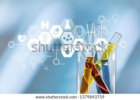 Oil test analysis beaker bio bio diesel biotechnology #1379843759