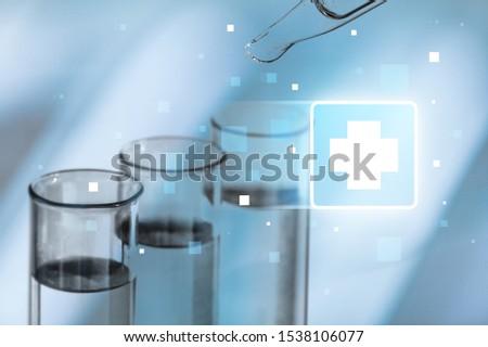 Oil test analysis beaker bio bio diesel biotechnology #1538106077