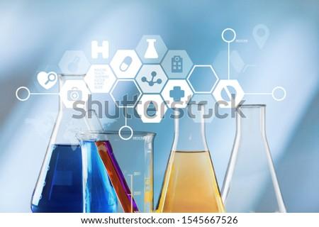 Oil test analysis beaker bio bio diesel biotechnology #1545667526