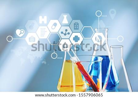 Oil test analysis beaker bio bio diesel biotechnology #1557906065