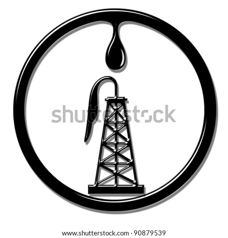 Oil Well derrick - stock photo