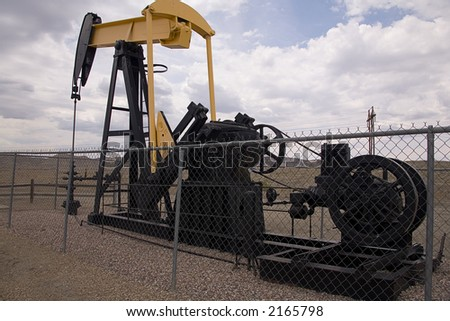 Oil well in western Colorado