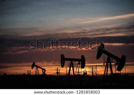 Oil wells in Xinjiang #1285858003