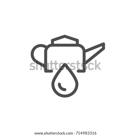 Oiler line icon isolated on white