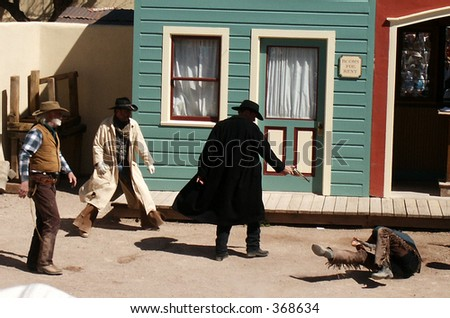 ok corral gunfight reenactment