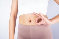 ok hand shape good health and good intestine excrete