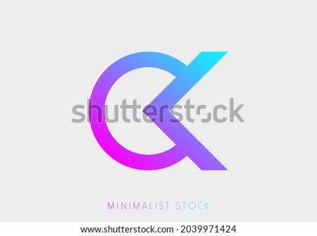 OK, KO, K, O Abstract Icon Logo Alphabet Monogram Illustration Initial Template letter for Business, Real Estate Brand Identity, Company, Building. Professional Creative Minimalist Trendy Logo Design Zdjęcia stock ©