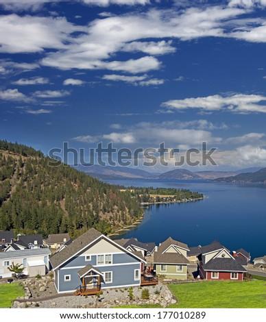 Okanagan Lake and summer homes