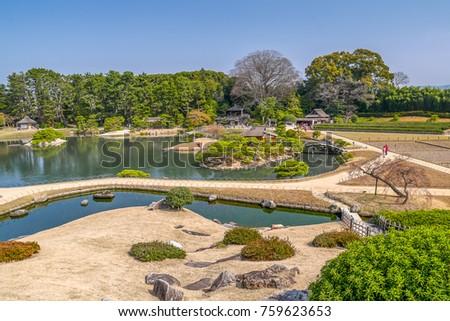 Okayama Korakuen Garden, One of Japan's three most celebrated gardens.