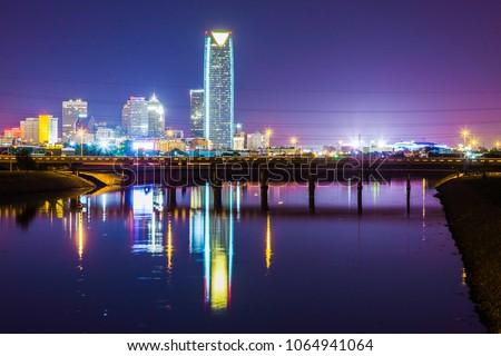 Oklahoma City Night Time #1064941064