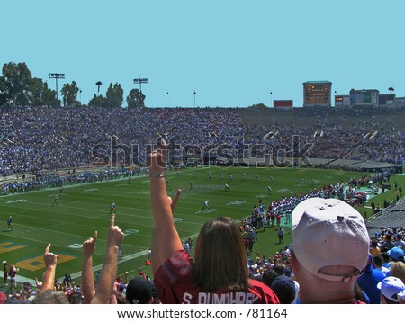 Oklahoma Sooners fans at the Rose Bowl, Pasadena, California, September 17, 2005