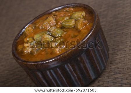 Okra an Famous Egyptian dish called Bamia