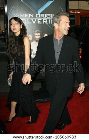 Oksana Grigorieva and Mel Gibson  at the Industry Screening of \'X-Men Origins Wolverine\'. Grauman\'s Chinese Theater, Hollywood, CA. 04-28-09