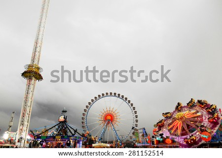 Stock Photo Oktoberfest amusement park