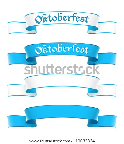 Oktoberfest banners in bavarian colors