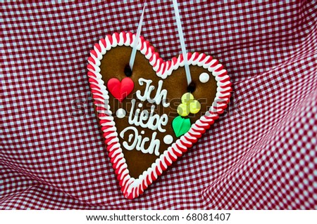 Oktoberfest Gingerbread Heart