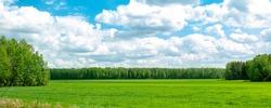 Olaka, sky, horizon and farm fields
