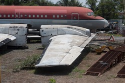 Old abandoned aircraft in Chiang Mai,Thailand#5