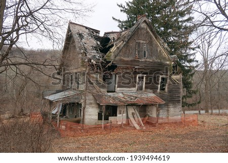 Old abandoned and neglected house. Seasonal.  Stock photo ©