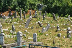 Old abandoned cemetery in Montenegro