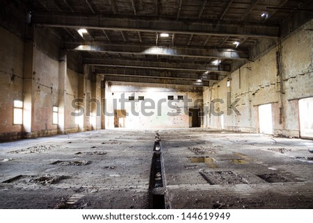 Old abandoned chemical Factory near Tomaszow, Poland