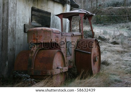 old abandoned compactor