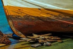 old abandoned fishing boat, Las Palmas city
