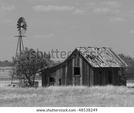 Old Abandoned Homestead - stock photo