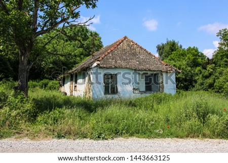 Old abandoned house in Fruska Gora National Park, Vojvodina, Serbia stock photo