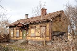 Old abandoned house. Tallinn, Estonia