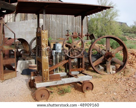old abandoned mining equipment